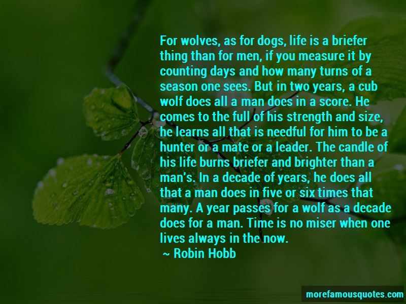 Measure Of A Man Life Quotes