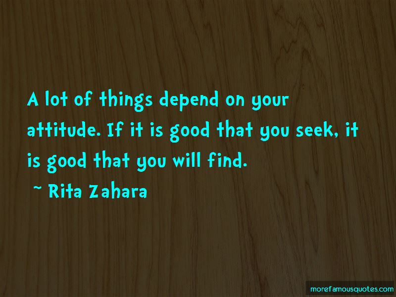 My Attitude Depend On You Quotes Pictures 2