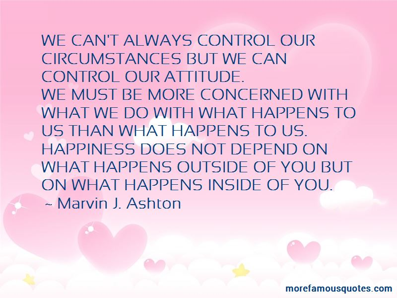 My Attitude Depend On You Quotes