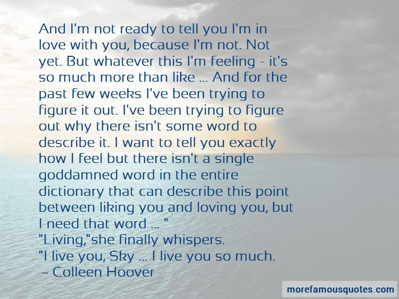 Not Yet Ready To Love Quotes Pictures 2