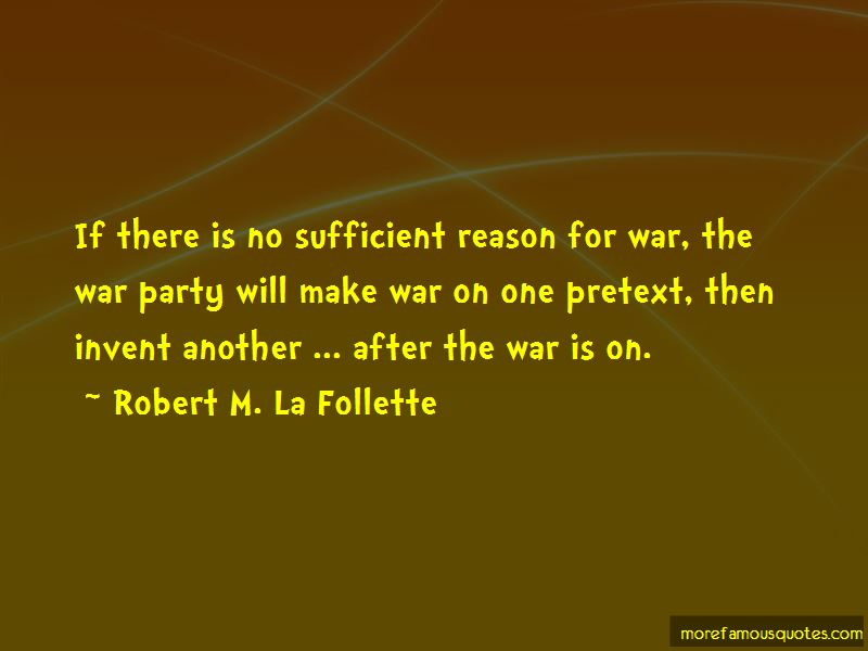 Reason For War Quotes