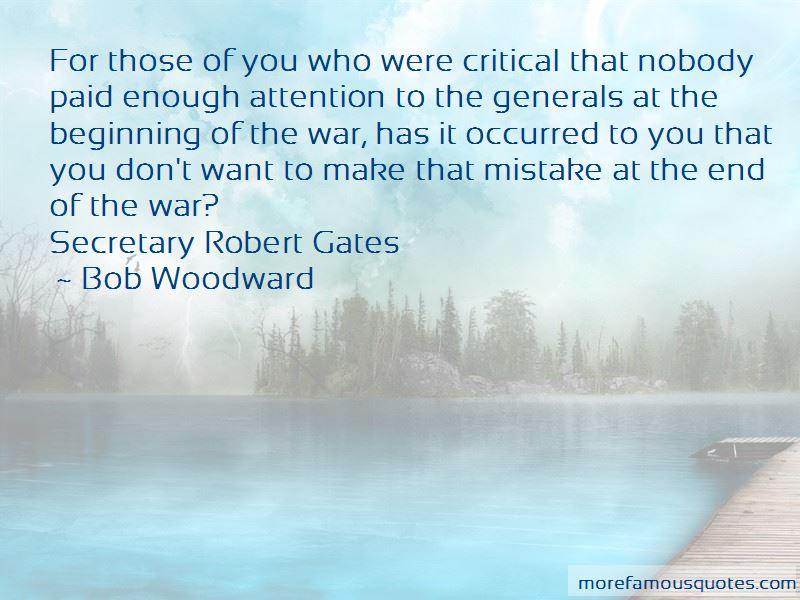 Robert Gates Quotes