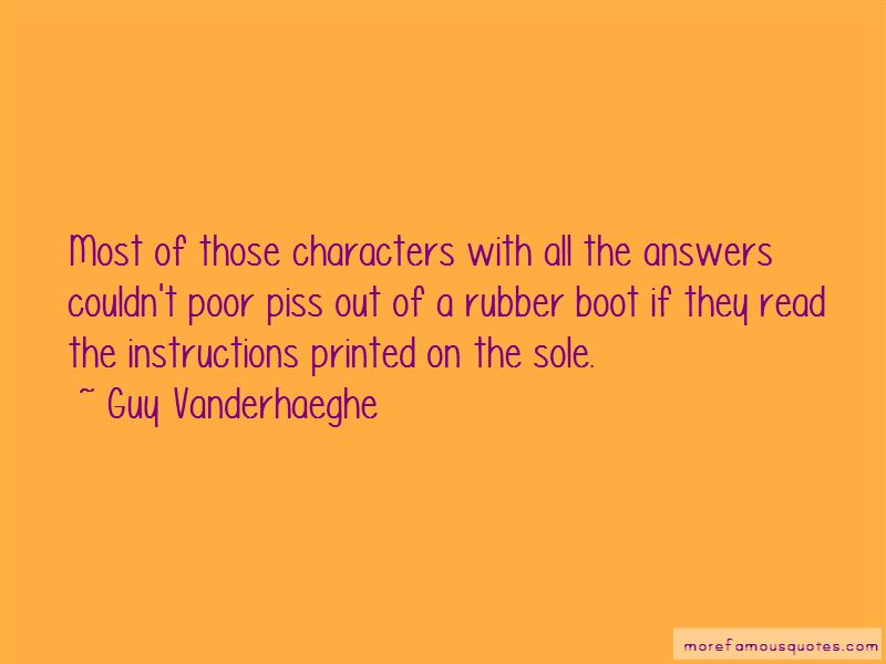 Rubber Boot Quotes
