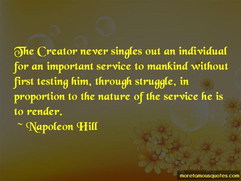 service to mankind