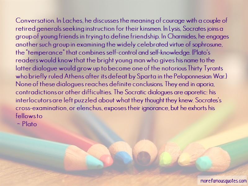 an argument on the meaning of courage by socrates
