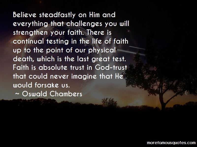Testing Our Faith Quotes