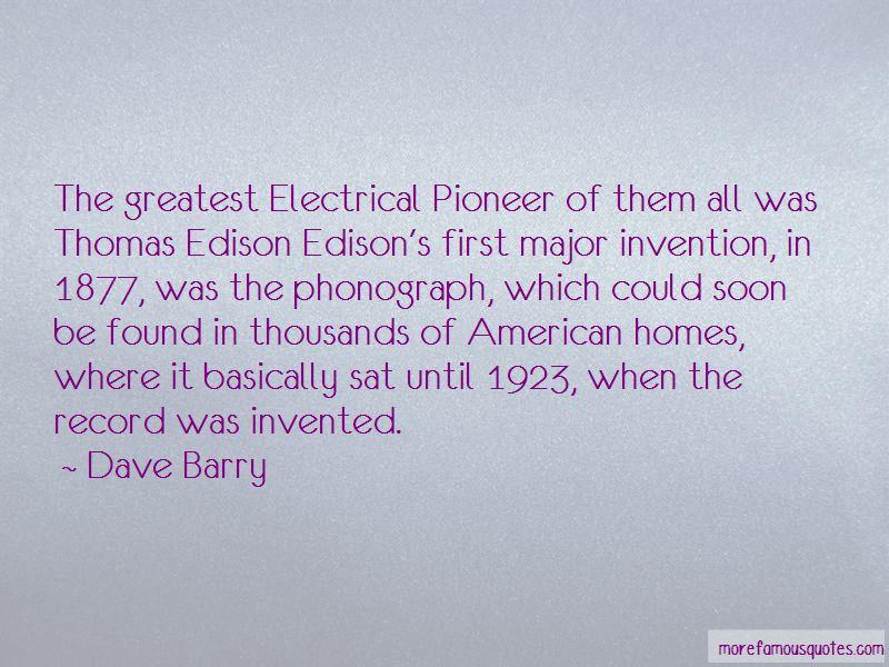 Thomas Edison Phonograph Quotes