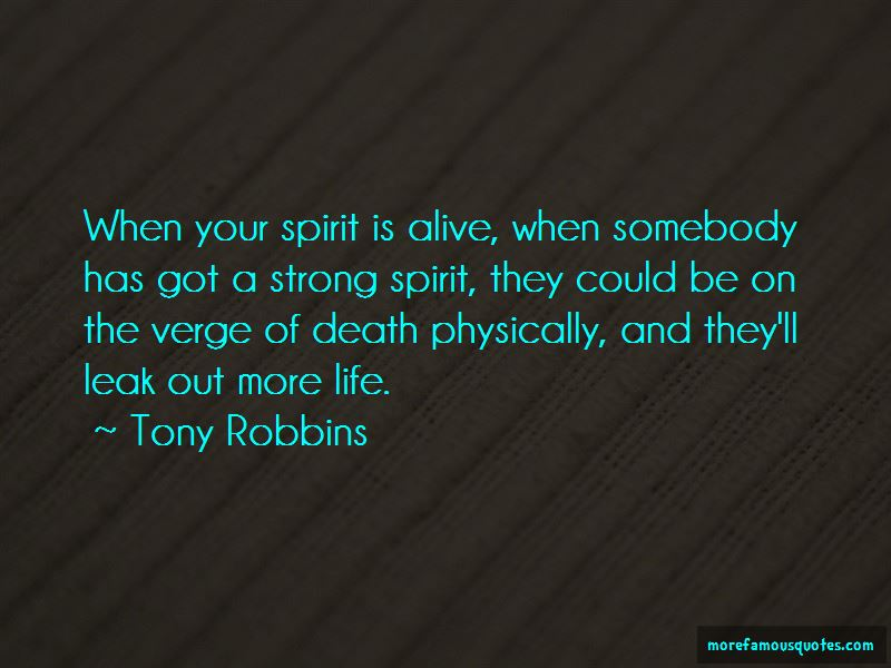 Verge Of Death Quotes
