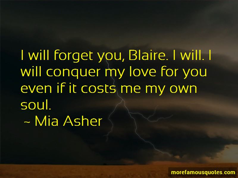 Will Forget You Quotes
