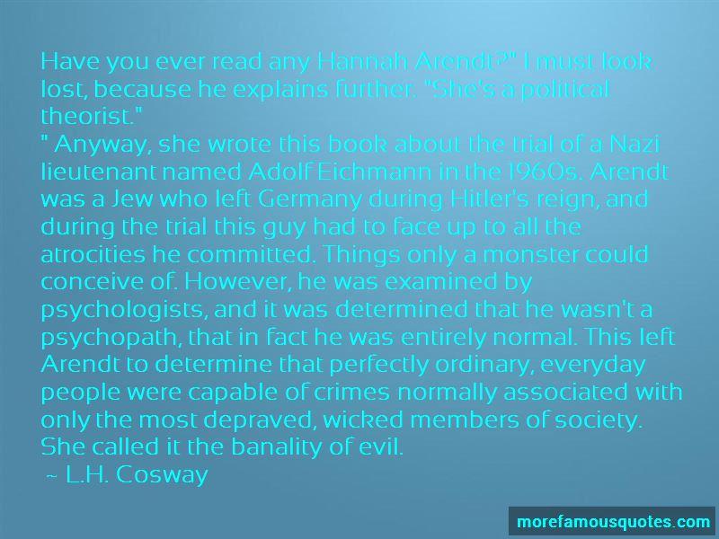 Arendt Eichmann Quotes