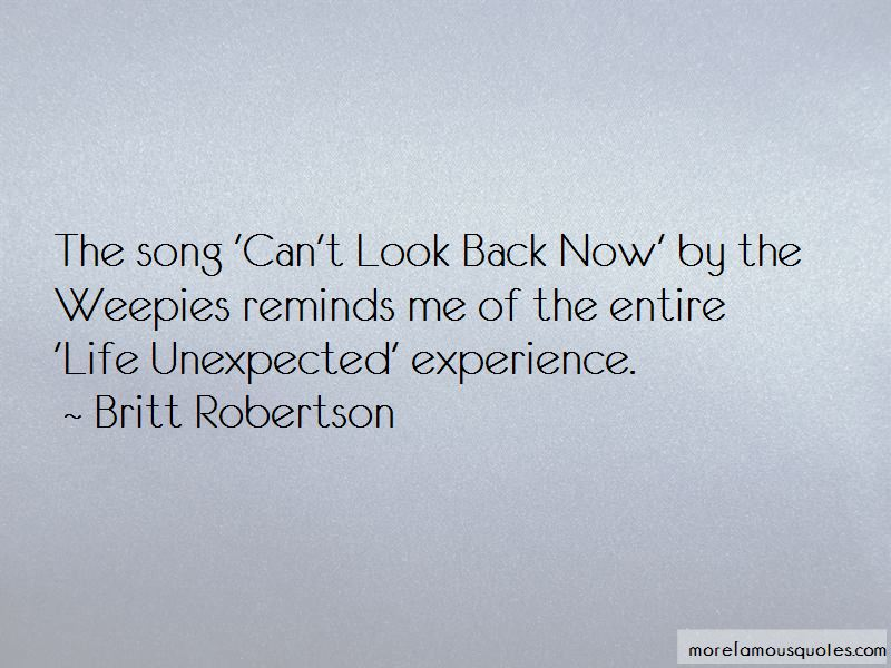 Can't Look Back Quotes