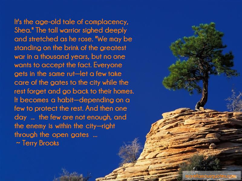 Complacency Enemy Quotes Pictures 4