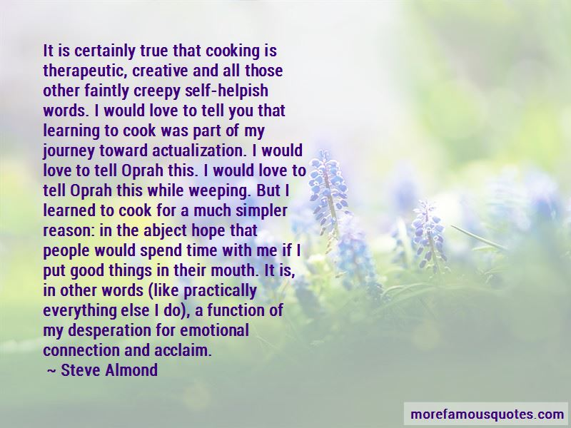 Cooking Is Therapeutic Quotes