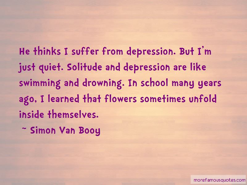 Depression Is Like Drowning Quotes