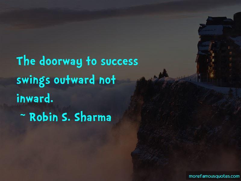 Doorway To Success Quotes