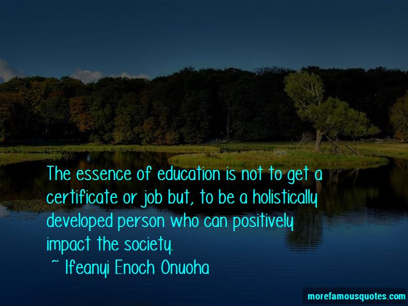 the essence of education