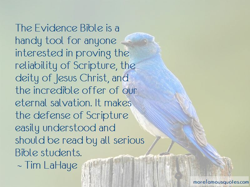 Evidence Bible Quotes