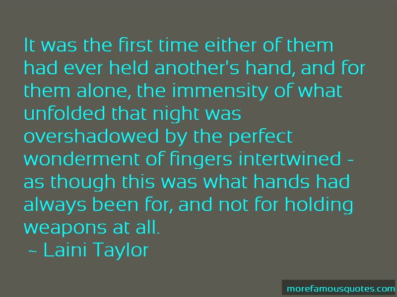 First Time We Held Hands Quotes
