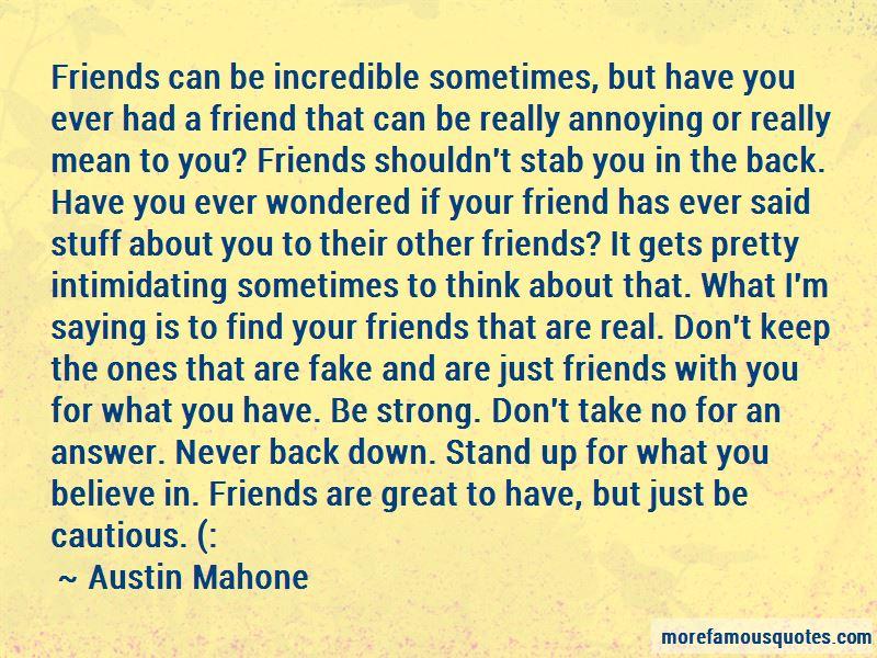 Friends Shouldn't Quotes