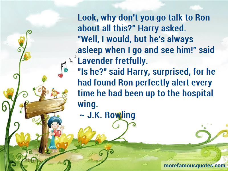 Harry Lavender Quotes