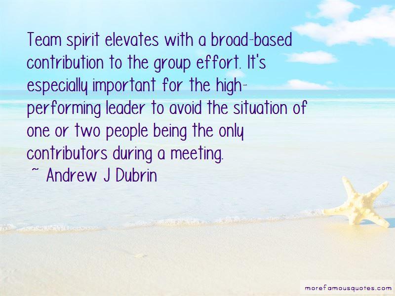 High Team Spirit Quotes