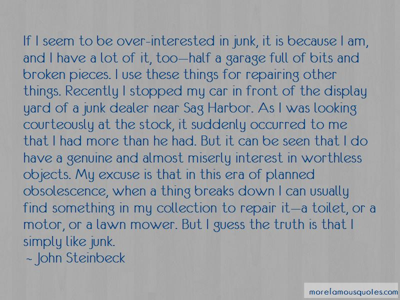 Junk Car Quotes: top 6 quotes about Junk Car from famous authors
