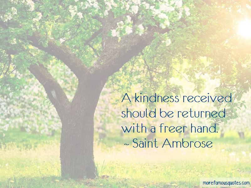 Kindness Returned Quotes
