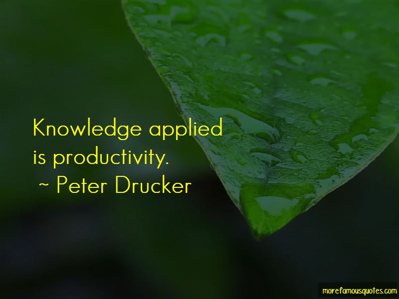 Knowledge Applied Quotes