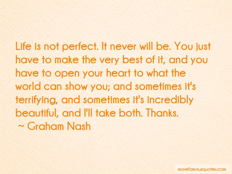 Life Can Never Be Perfect Quotes Pictures 2