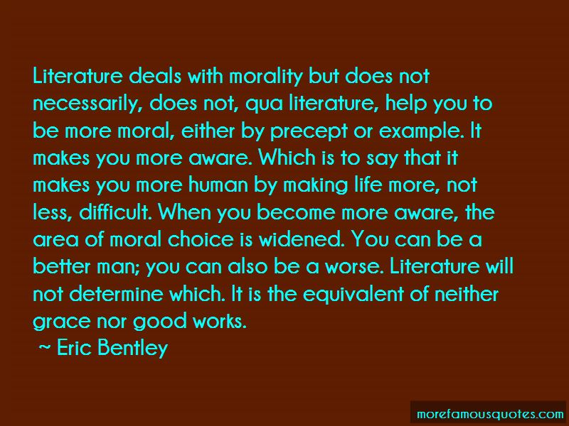 Literature And Morality Quotes Pictures 3