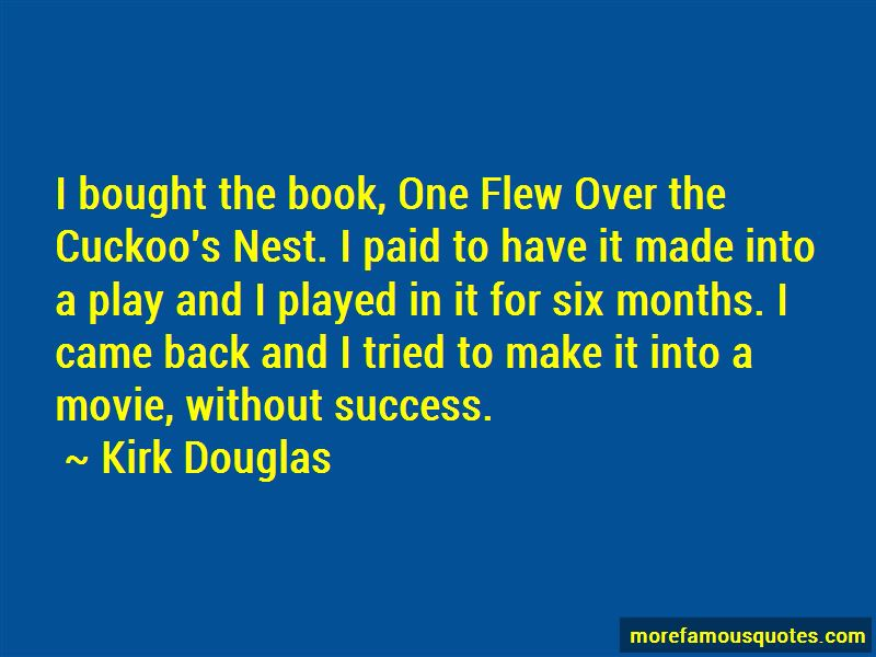 quotes from one flew over cuckoo In literary terms, nurse ratched is a flat character one flew over the cuckoo's nest: the film and the novel mcmurphy as comic book christ.