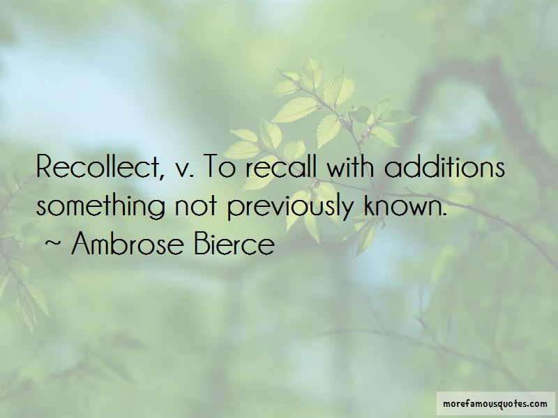 Recollect Quotes Pictures 2