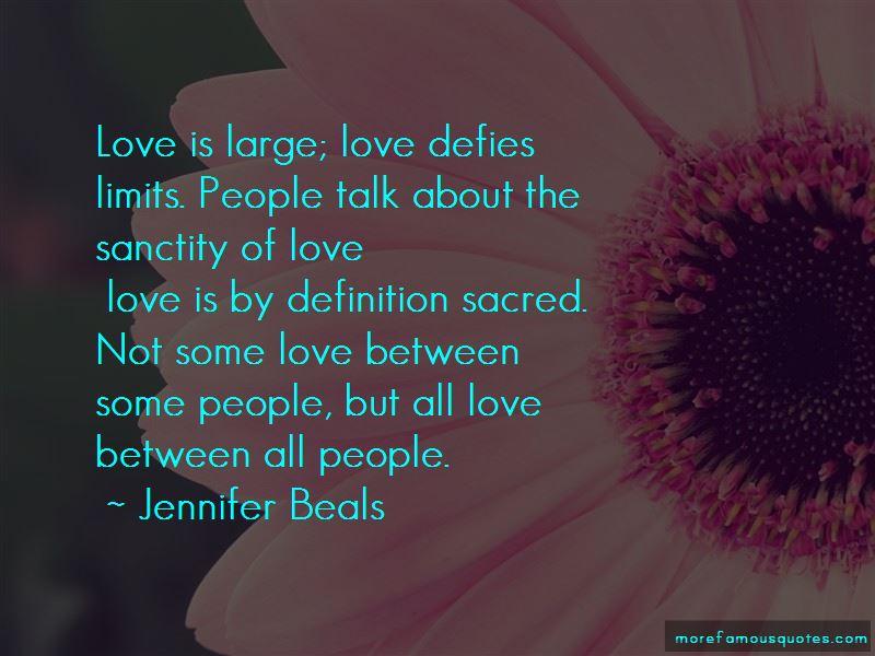 Sanctity Of Love Quotes