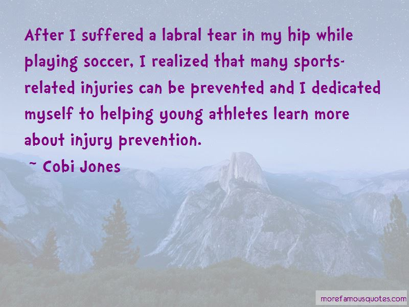 Sports Injury Prevention Quotes