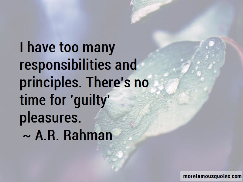 Too Many Responsibilities Quotes