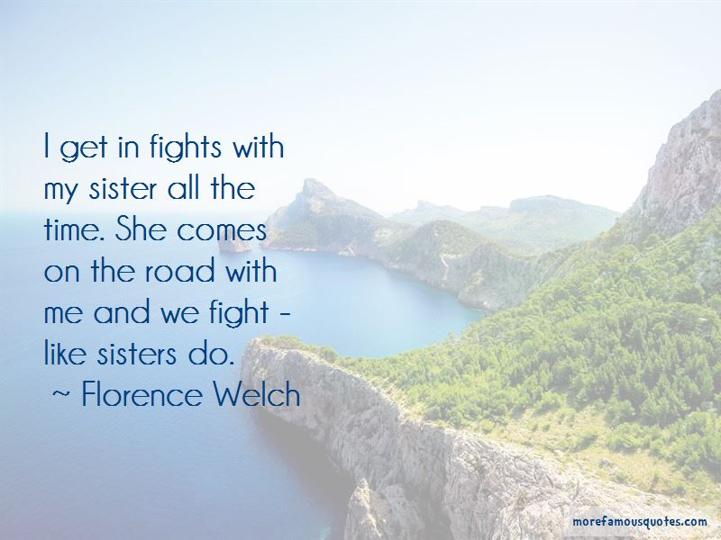 We Fight Like Sisters Quotes