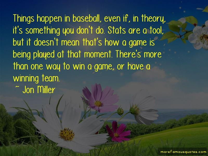 Winning Baseball Game Quotes
