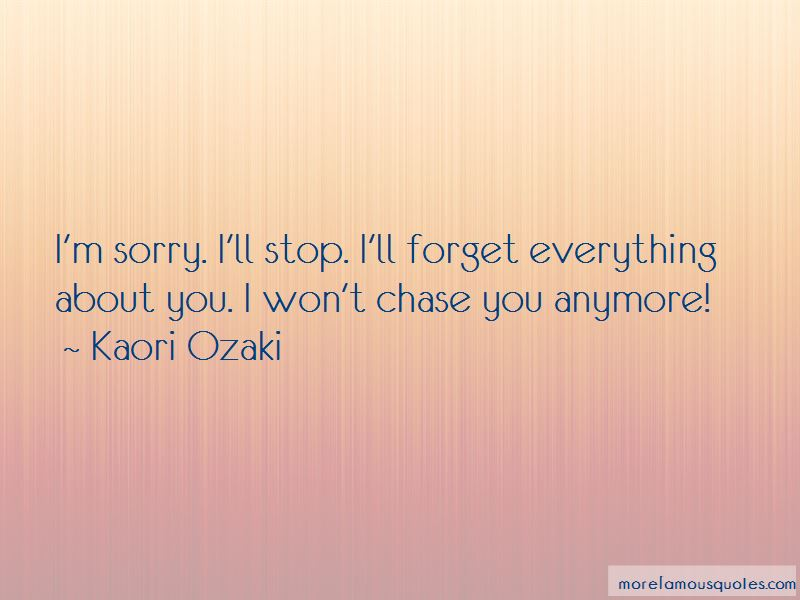 Won't Chase You Quotes
