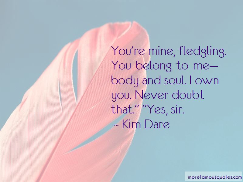 You Belong To Me Quotes