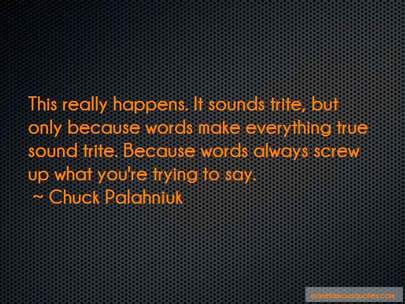Always Screw Up Quotes