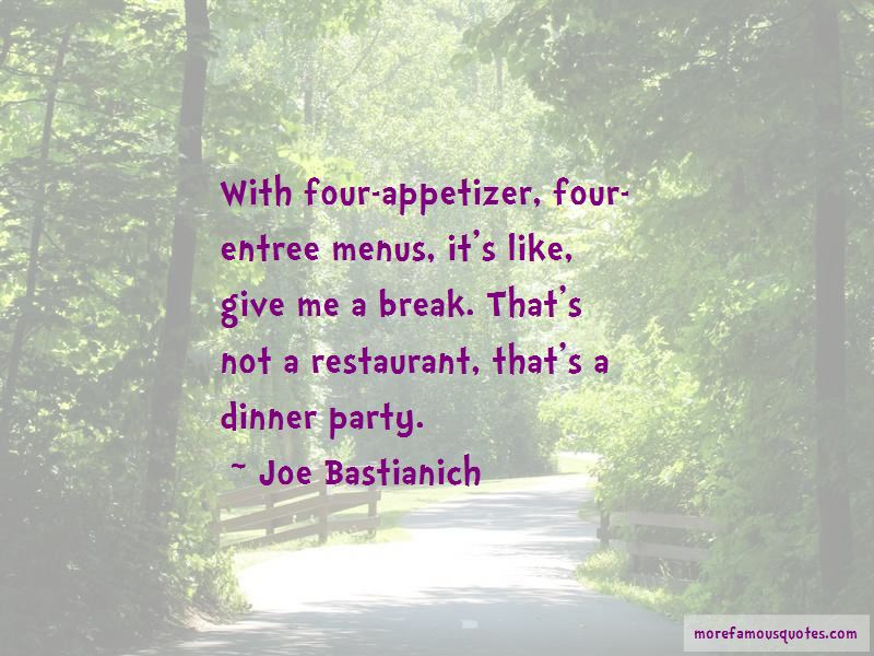 Appetizer Quotes