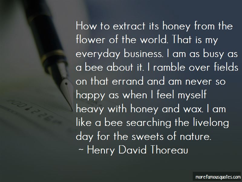 Busy As A Bee Quotes