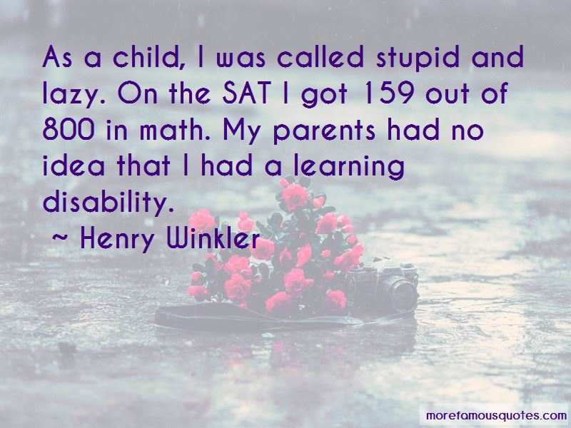 Child Disability Quotes