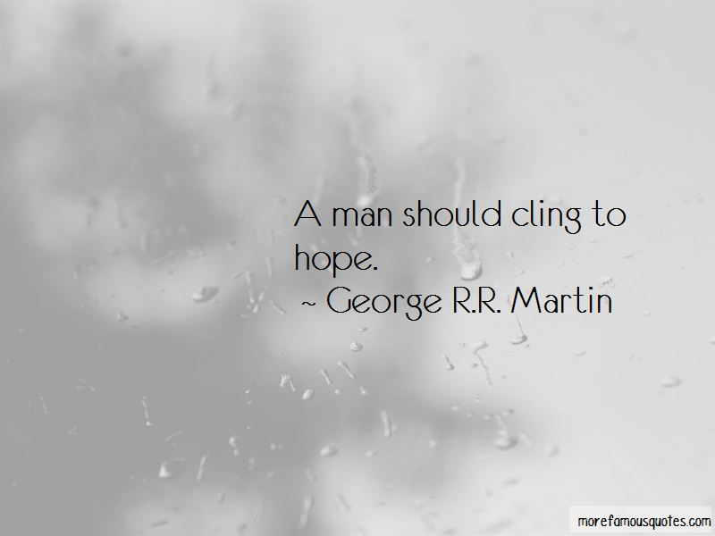 Cling To Hope Quotes