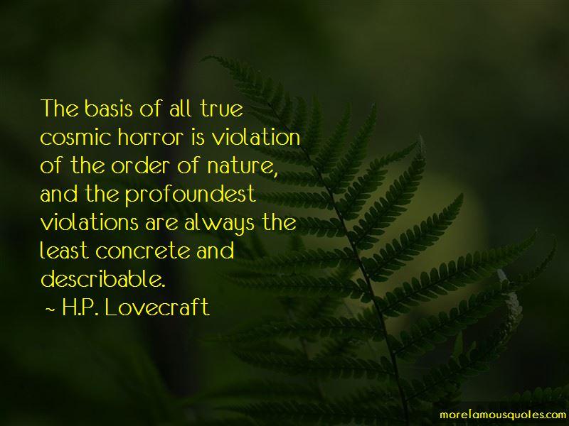 Cosmic Horror Quotes