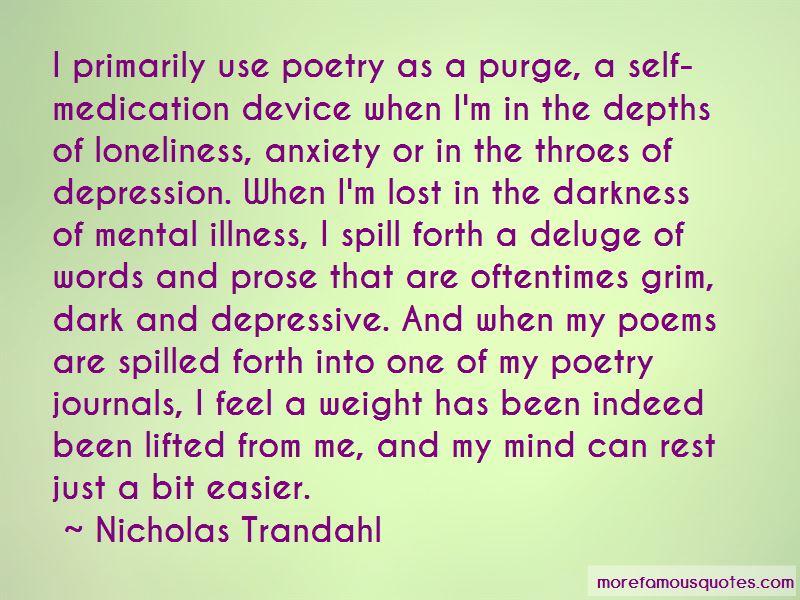 Depression Poems Quotes