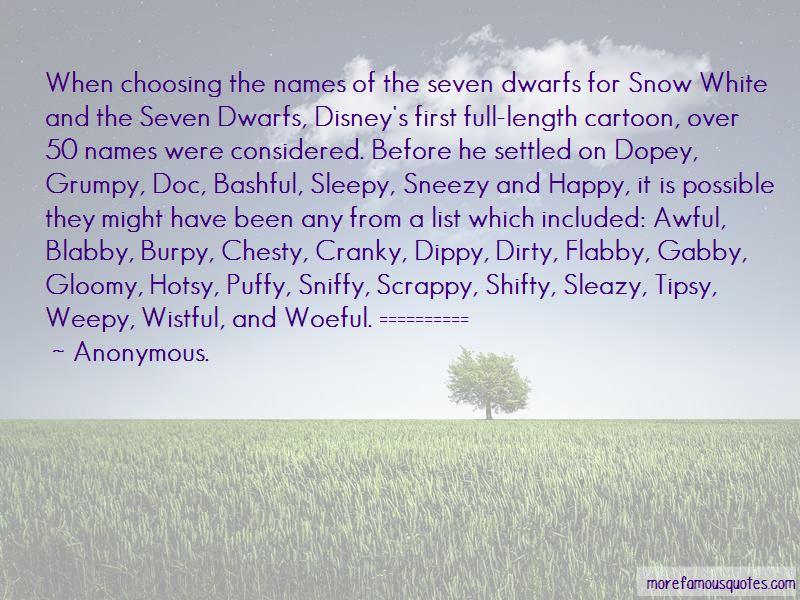 Dopey Seven Dwarfs Quotes Pictures 2
