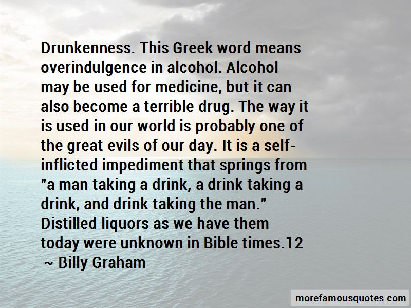 Evils Of Alcohol Quotes