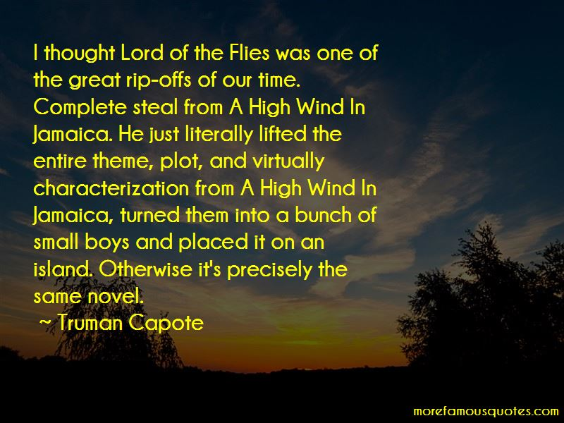 High Wind In Jamaica Quotes