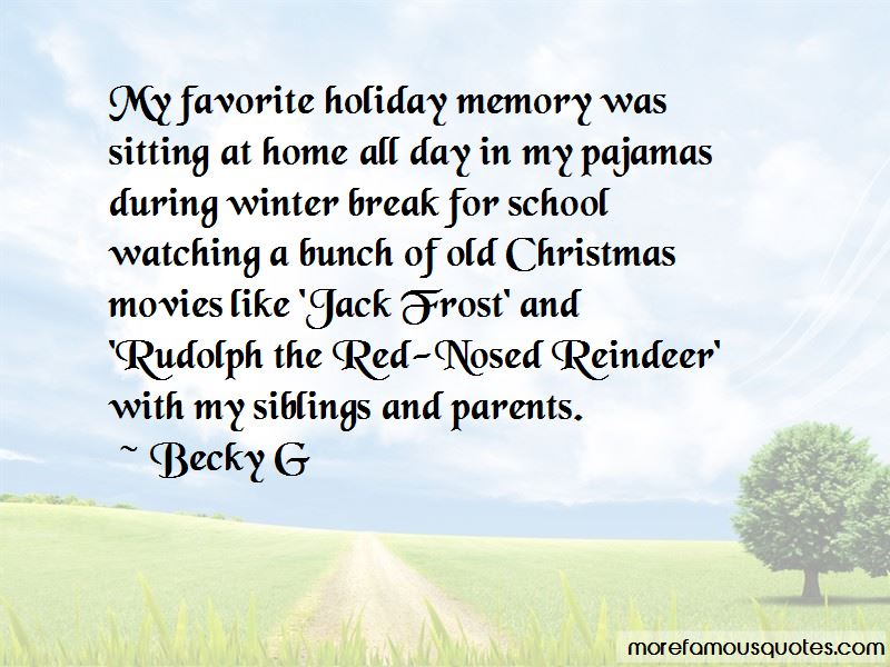 Holiday Memory Quotes